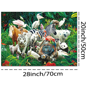 Game of Animals Unique Home Games for Kids Adult Decompression Toys Leisure Time Easy-Clean Promotes Hand-Eye Coordination XIECCX Jigsaw Puzzle 1000-Piece