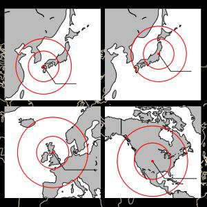 世界15地域 4局の電波情報受信