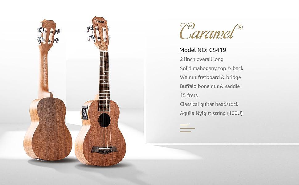 caramel ukulele Specifications
