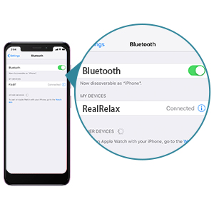 turn on the Bluetooth of mobile