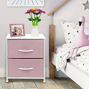 pastel pink nightstand