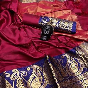 Pink Aura Silk Saree