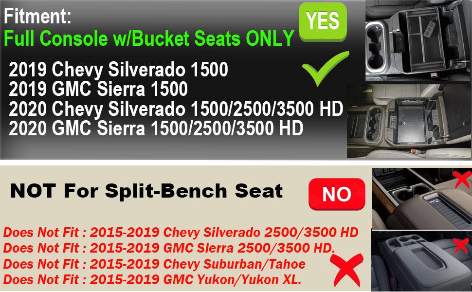 2019 GMC Sierra 1500 / Chevy Silverado 1500 and 2020 GMC Sierra 1500/2500/3500 HD / Chevy Silverado
