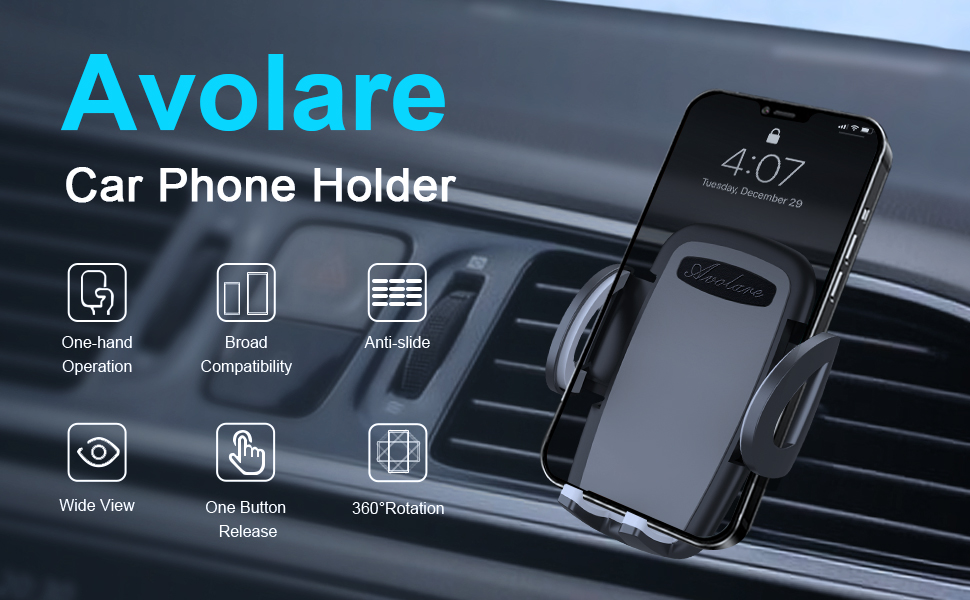 Avolare Air Vent Phone Holder - Make your trip safer and more comfortable