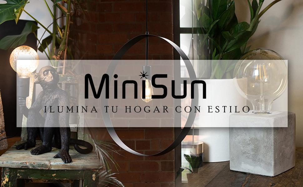 MiniSun - Moderno Ventilador de Techo Silencioso con Mando a ...