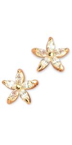 Elegant Cubic Zirconia Stud Earrings