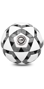 YANYODO Soccer Training Ball Practice Traditional Soccer Balls Classic Sizes 3/4/5