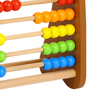 wooden base abacus