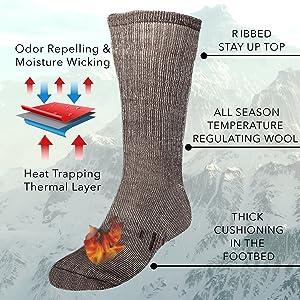 merino wool socks for men thick
