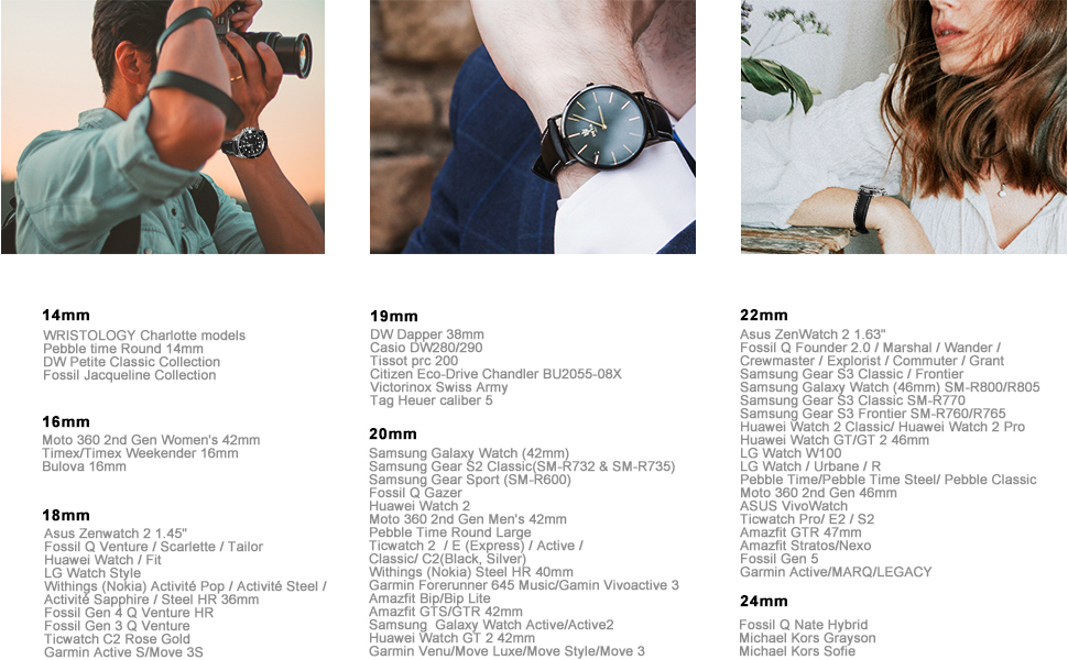 cinturini per orologio, cinturini di ricambio cinturini 20mm cinturini 22mm cinturini 24mm