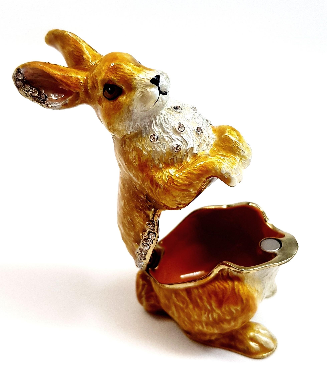 Kaninchen Häschen Karnickel Deko Hase Sammlerstück Schmuckschatulle Pillendose