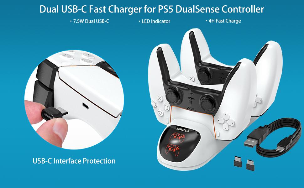 KINGTOP PS5 Controller Charger