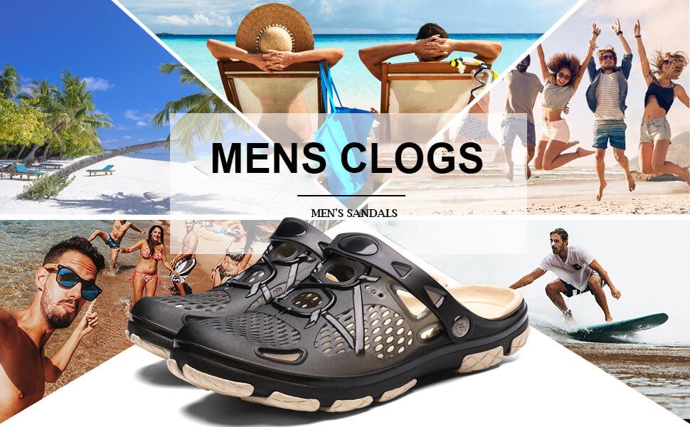 mens clogs summer beach