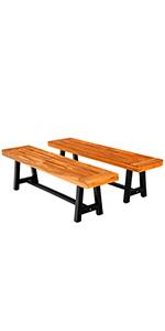 2pcs wood bench