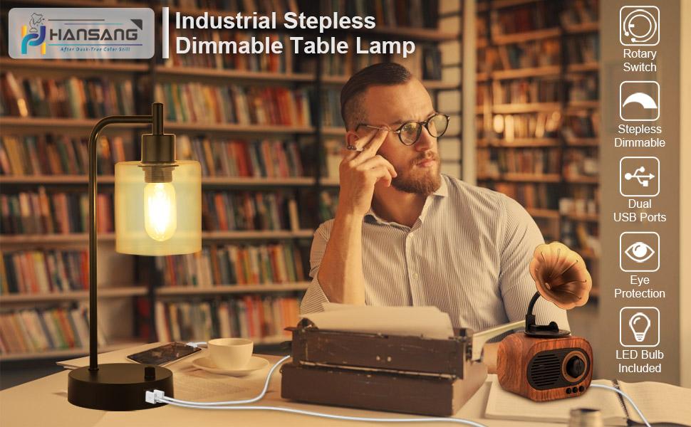industrial bedside lamp