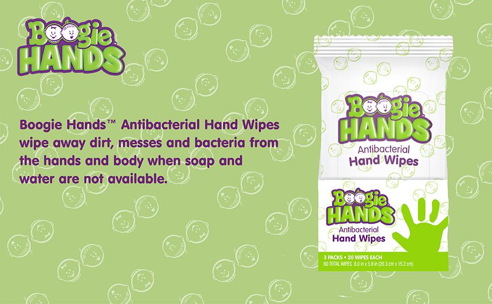 Boogie Hands Antibacterial Hand Wipes