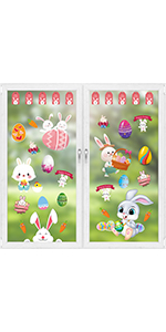 Easter window clings stickers