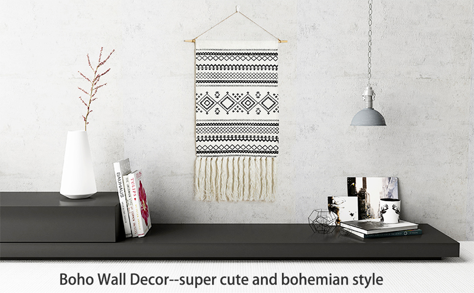 Home Tapestries Loving Basso Macrame Wall Hanging Boho Wall Decor Macrame Wall Hanging Tapestry Black And White For Bedroom Living Room Decor Holiday Party Birthday Wedding Christmas Decorations
