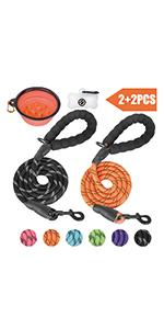 2 pack dog leash