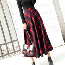 Pleated Skirt Maxi Length Long Elastic Waist High Long Aline