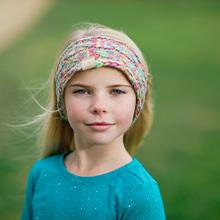 kids warm knit sherpa lined winter headband head wrap