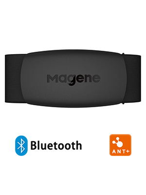 iPhone /& Android Compatible Magene H64 Heart Rate Monitor Chest Strap Fitness Tracker PU Inner Layer IP67 Waterproof/Support Bluetooth 4.0 and ANT+