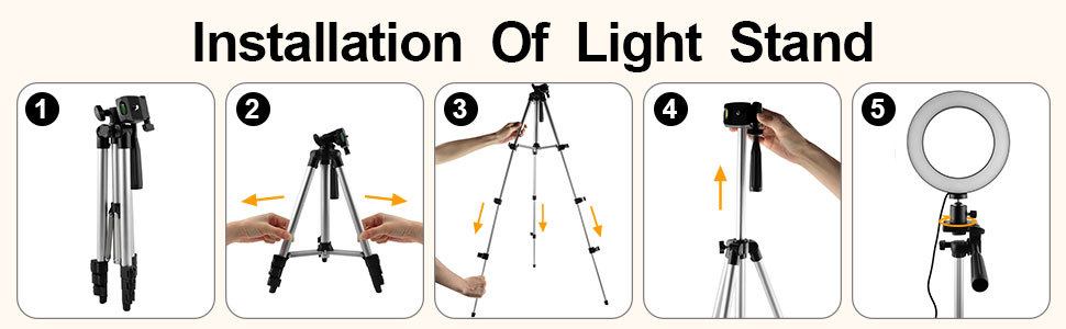 right light with stand