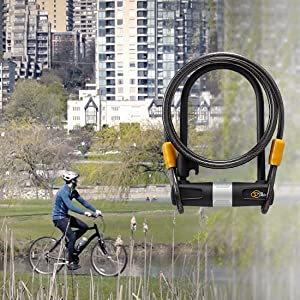 Via Velo Bike U Lock with Cable