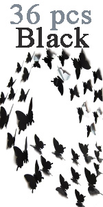 Black butterflies wall decals