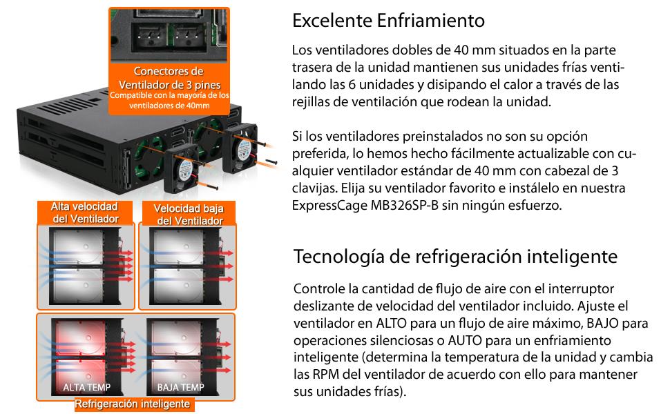 Icy Dock ExpressCage MB326SP-B - 6 Bahías SAS/SATA HDD/SSD 2.5 ...