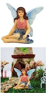 fairy garden miniature fairies girl sitting outdoor indoor tiny small