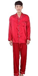 Satin pajamas for men