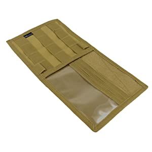 visor panel cover organizer tactical molle compatible loop patch pockets tactical coyote tan