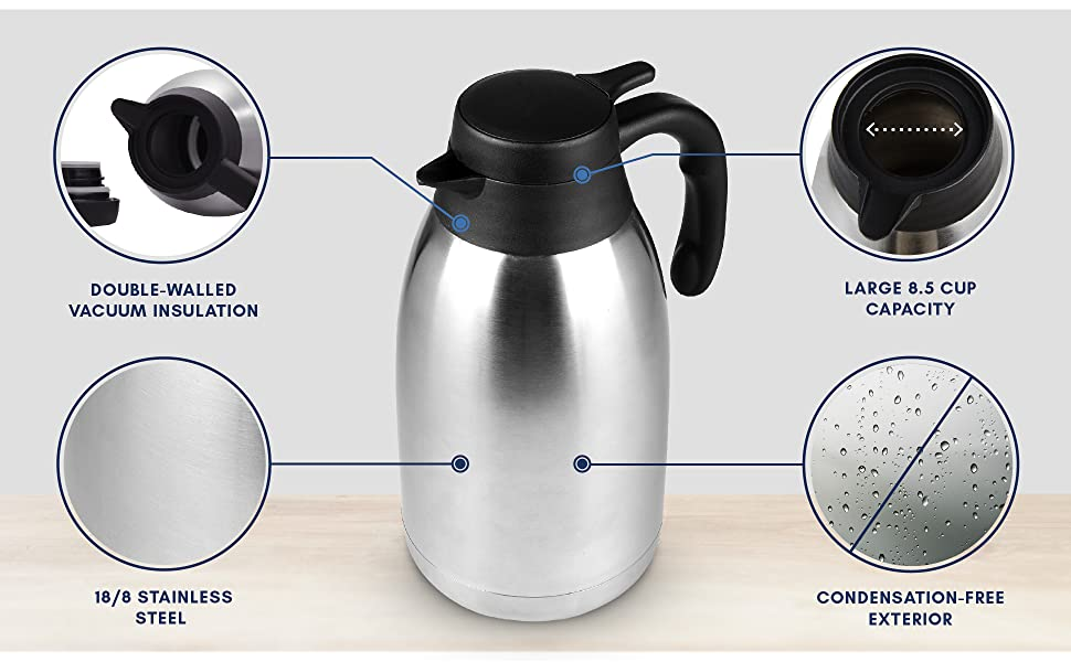 68-Ounce Stainless Steel Thermal Carafe