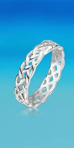 Silver Celtic Eternity Band