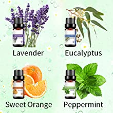 lavender eucalyptus sweet orange peppermint essential oil for aromatherapy diffuser