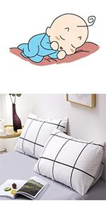 white plaid pillowcase