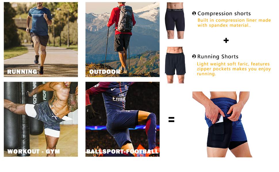 running shorts tight
