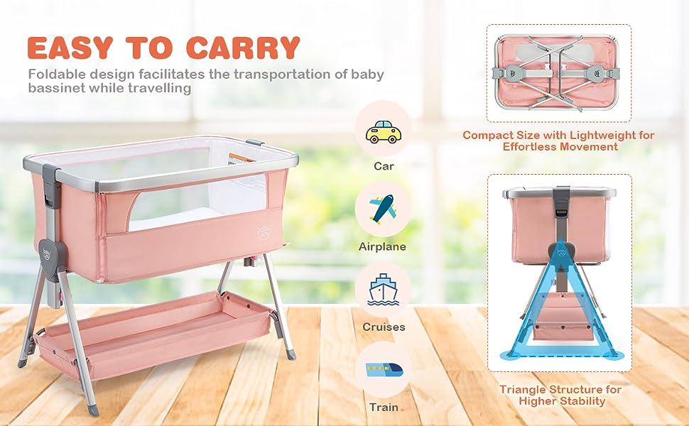 foldable baby crib
