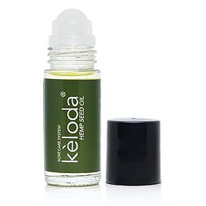 Hemp seed oil scar removal scars keloid keloids piercing acne care massage roller anti-scar skin