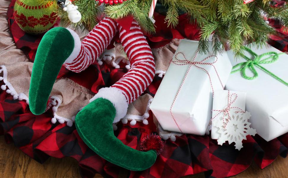 20'' Elf Legs for Christmas Tree Decorations