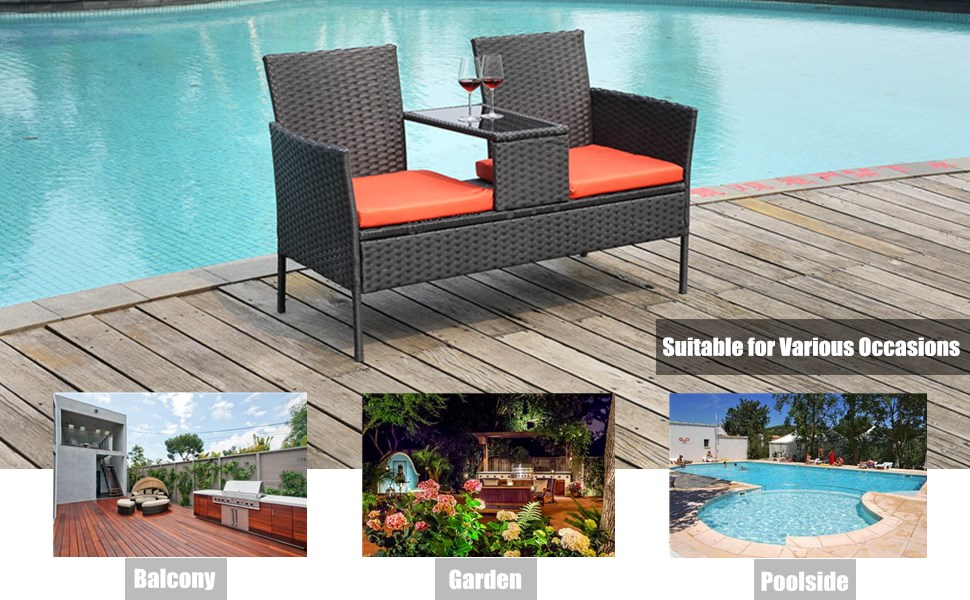 Modern Rattan Sofas for Garden Lawn Backyard