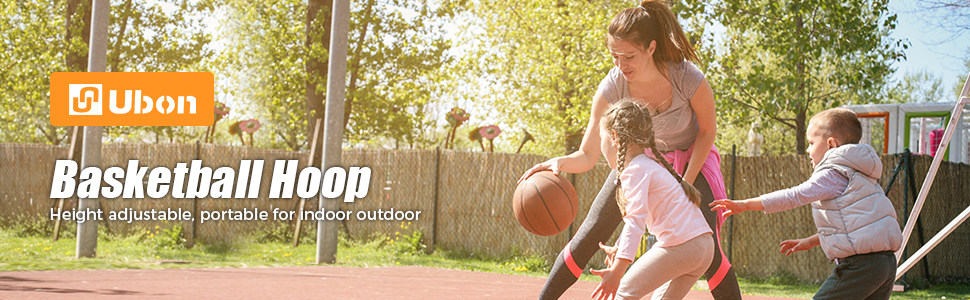 Ubon Adjustable Portable Basketball System