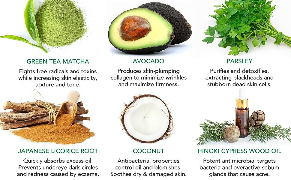 matcha heaven green tea and avocado detox mask 3