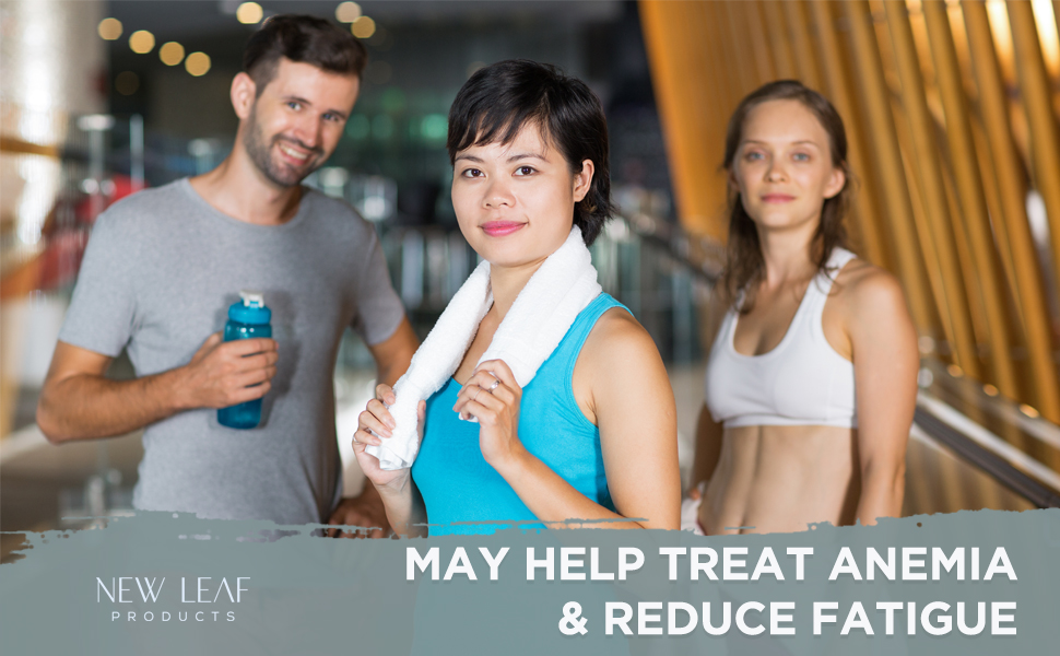 New leaf products' iron+ complex key health benefits