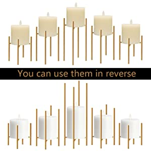 Gold candle hodlers