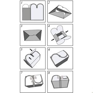 rectangle black box white ribbon