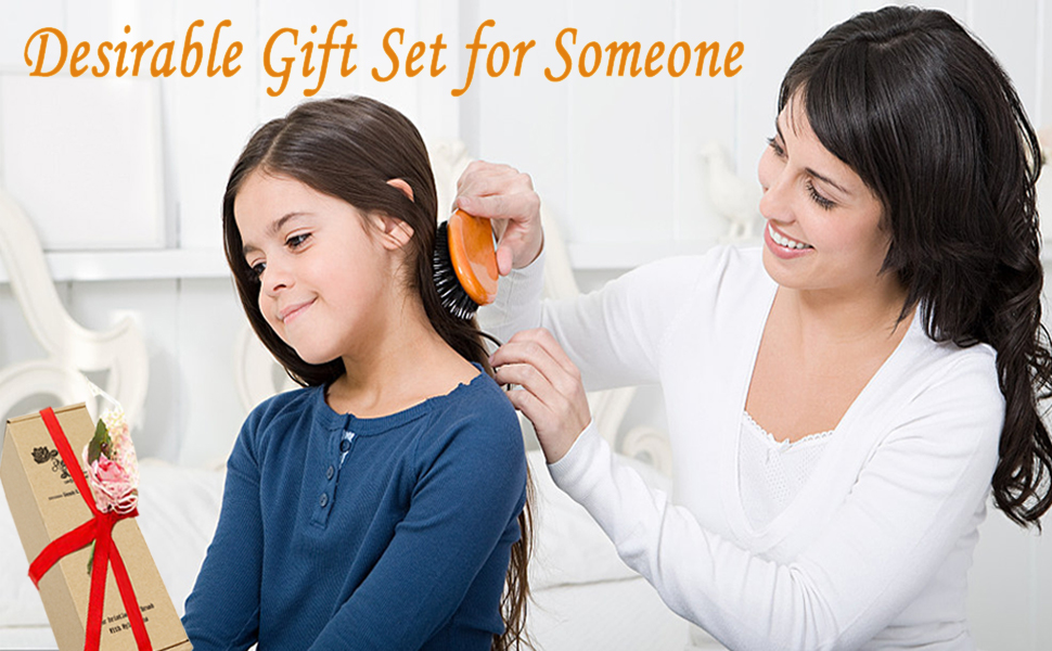 hair brush gift set
