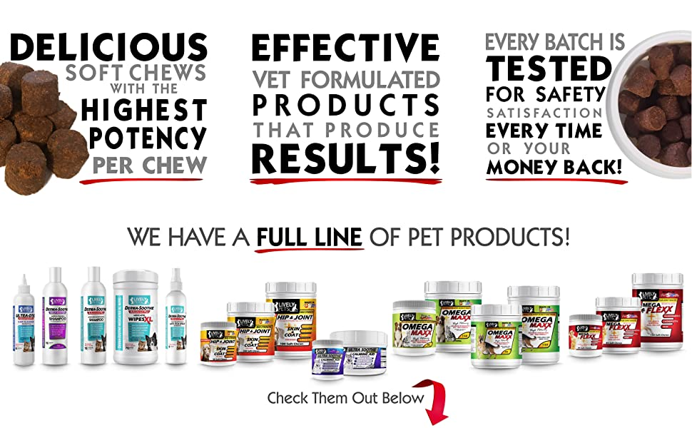 Lively Pets Products are veterinarian formulated to produce results