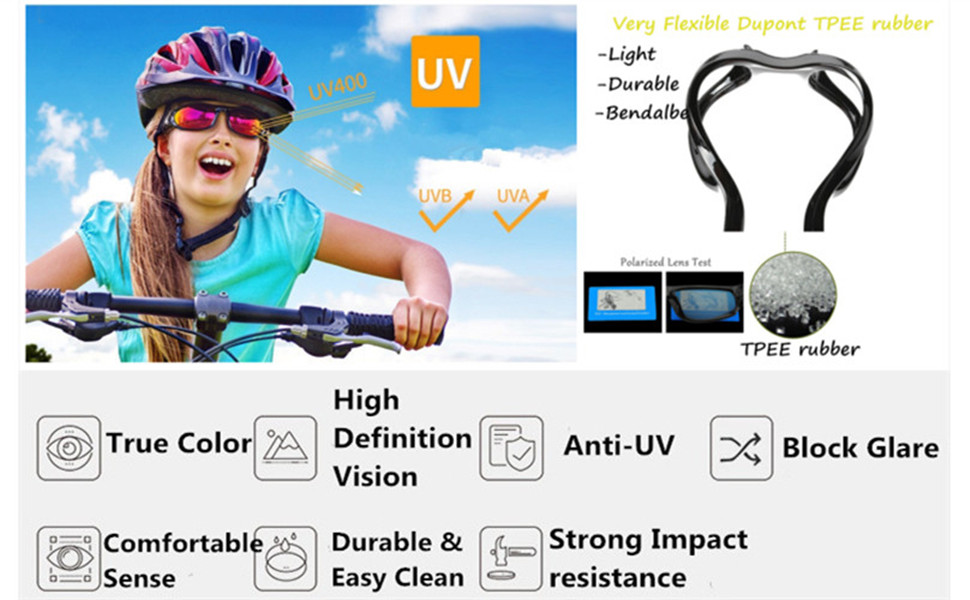 UV protection flexible polarized